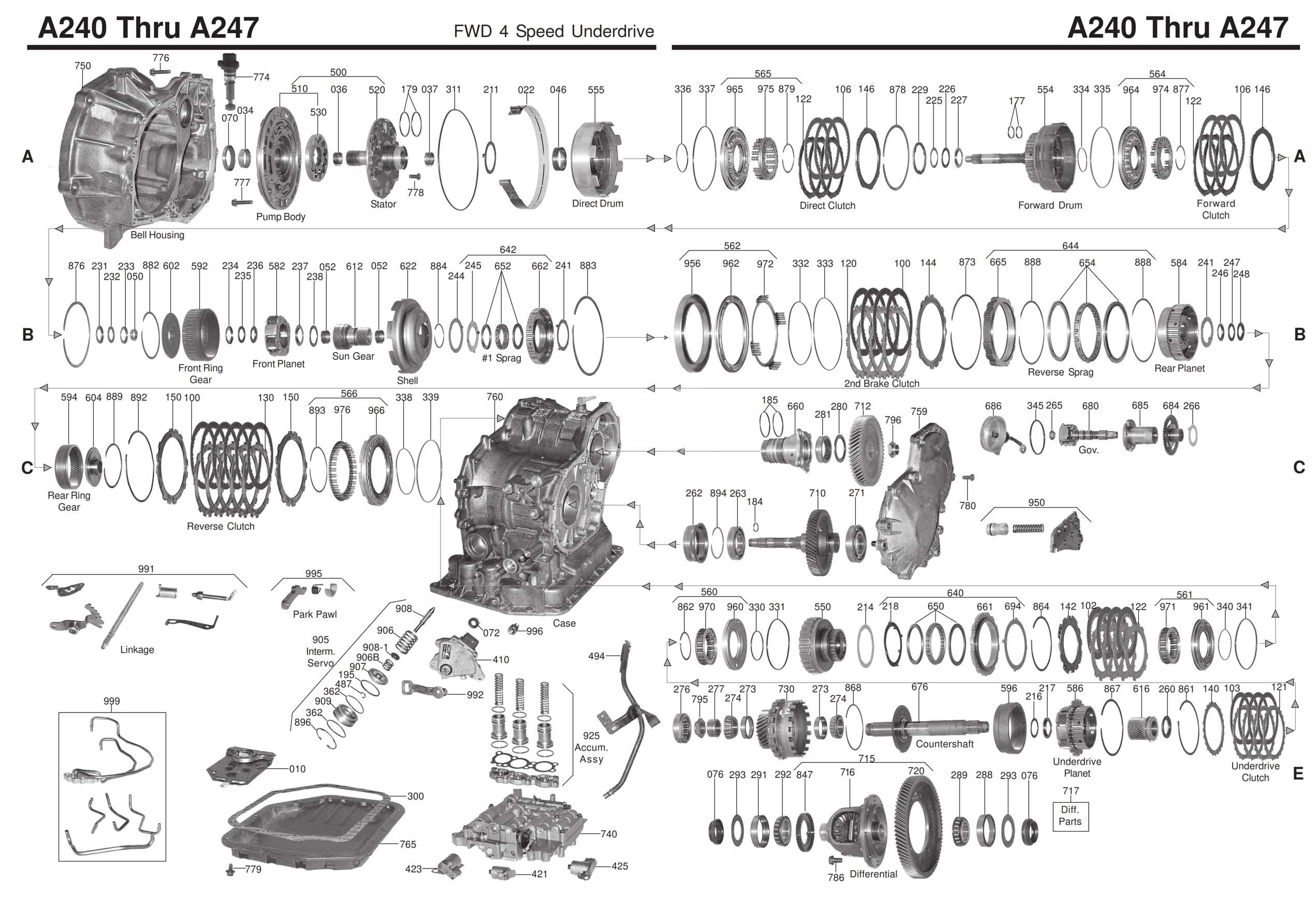 Схема A240 - A247