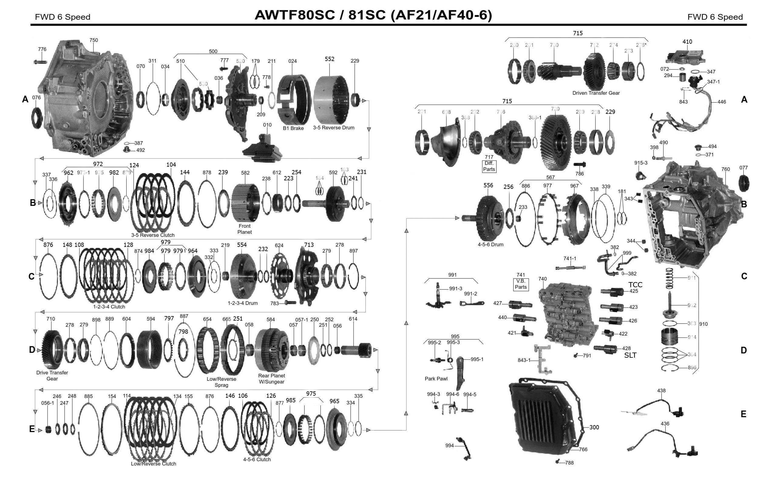 Руководство акпп AW TF-80SC / 81SC (AM6, AF21, AF40)