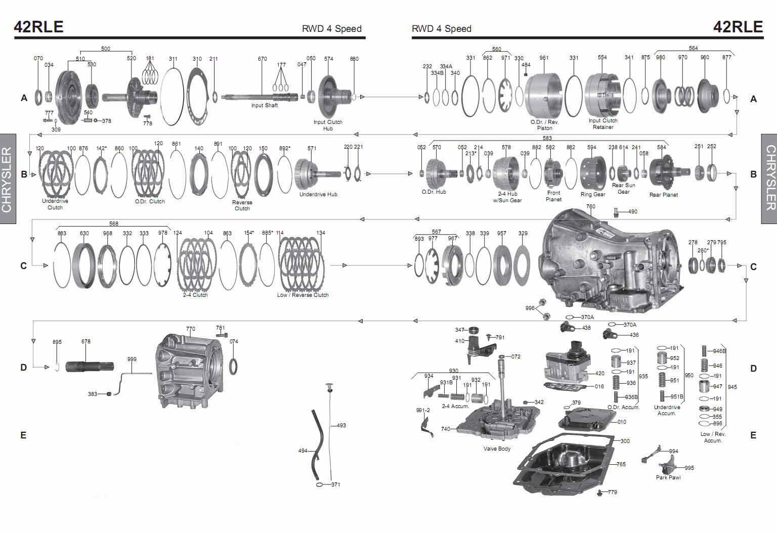 Схема АКПП 42RLE