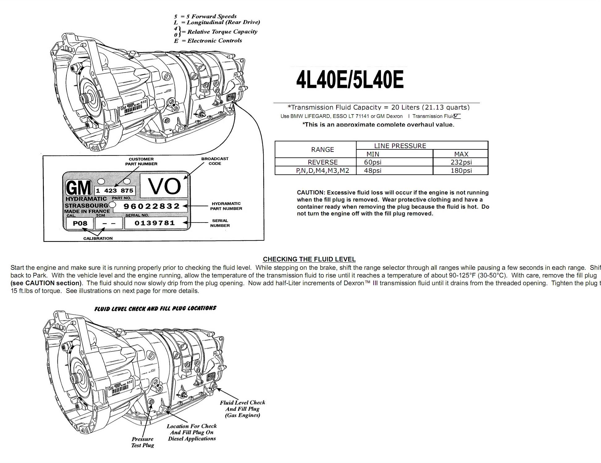 Замена масла АКПП 5L40E / 5L50E
