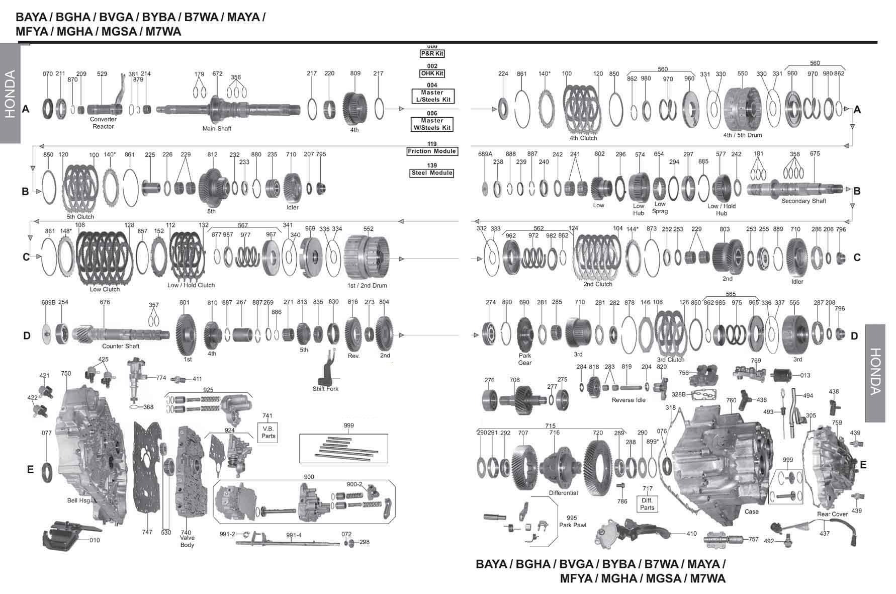 схема B7WA MW7A MGFA