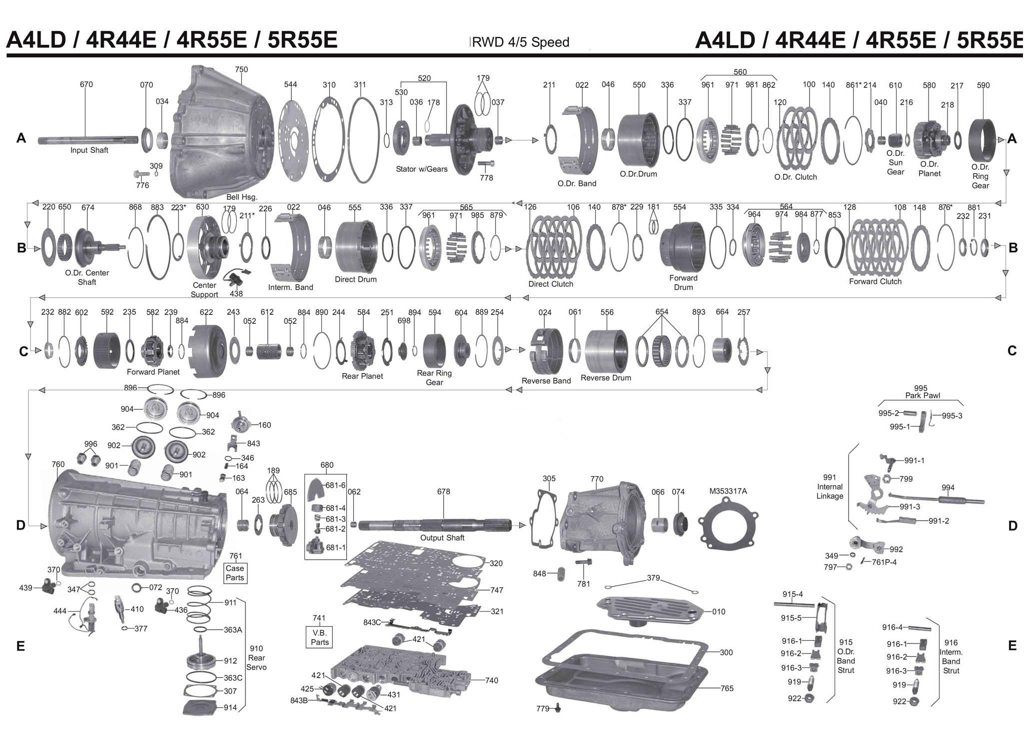 Акпп руководство A4LD-E / 4R44E / 4R55E (С3)