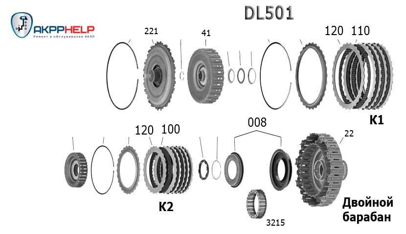 схема сцепления stronic dl501