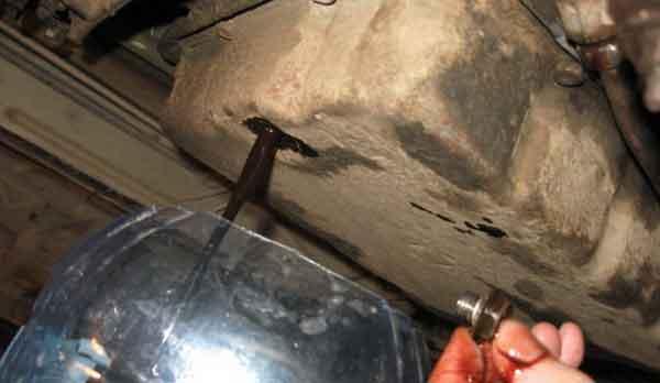 Слив жидкости из автомата РАВ 4