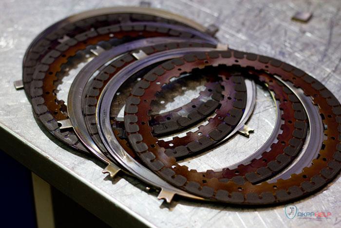 сгоревшие фрикционные диски Киа