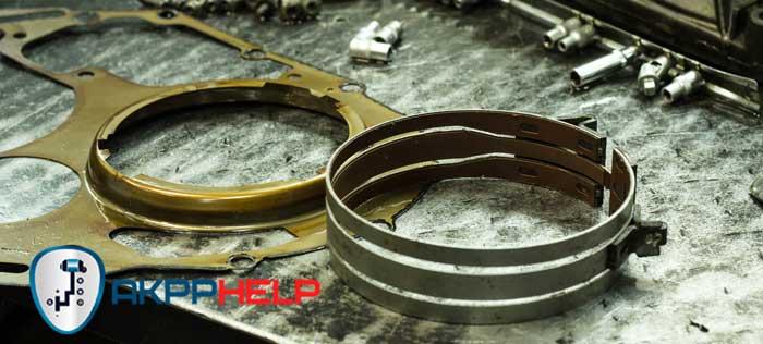 износ тормозной ленты АКПП Рено Клио