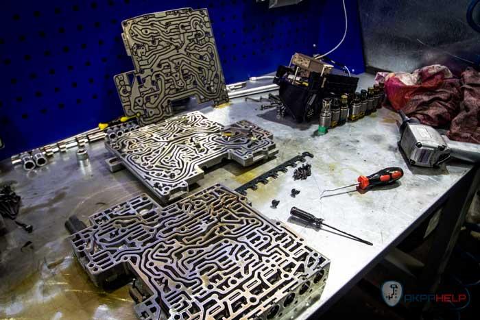 ремонт гидроблока е70 ZF 6HP 26